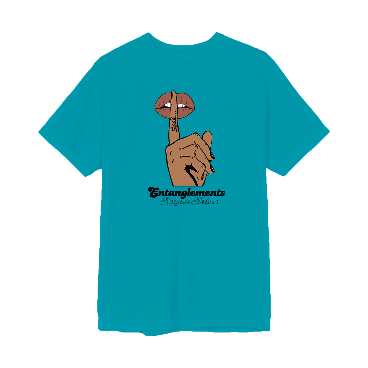 Entanglements Whisper Teal T-Shirt