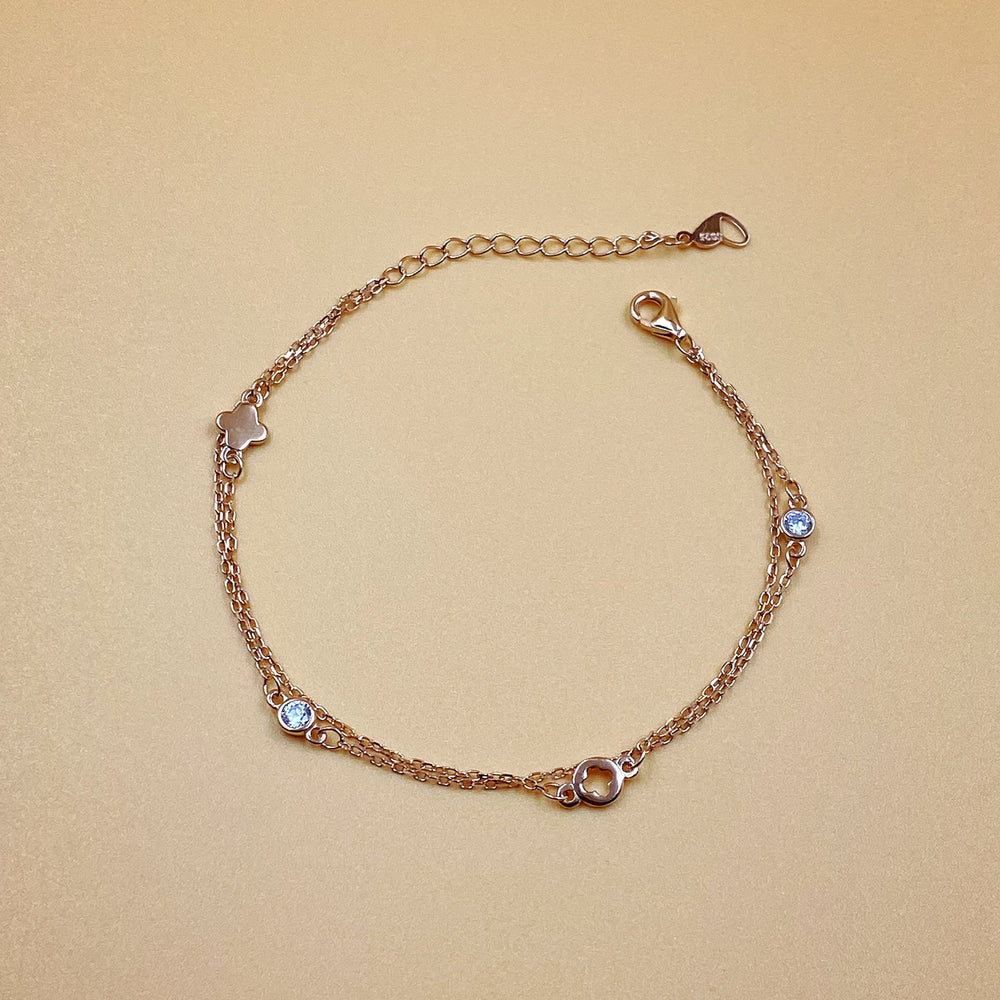 Load image into Gallery viewer, Rose Gold Double Chain Bracelet