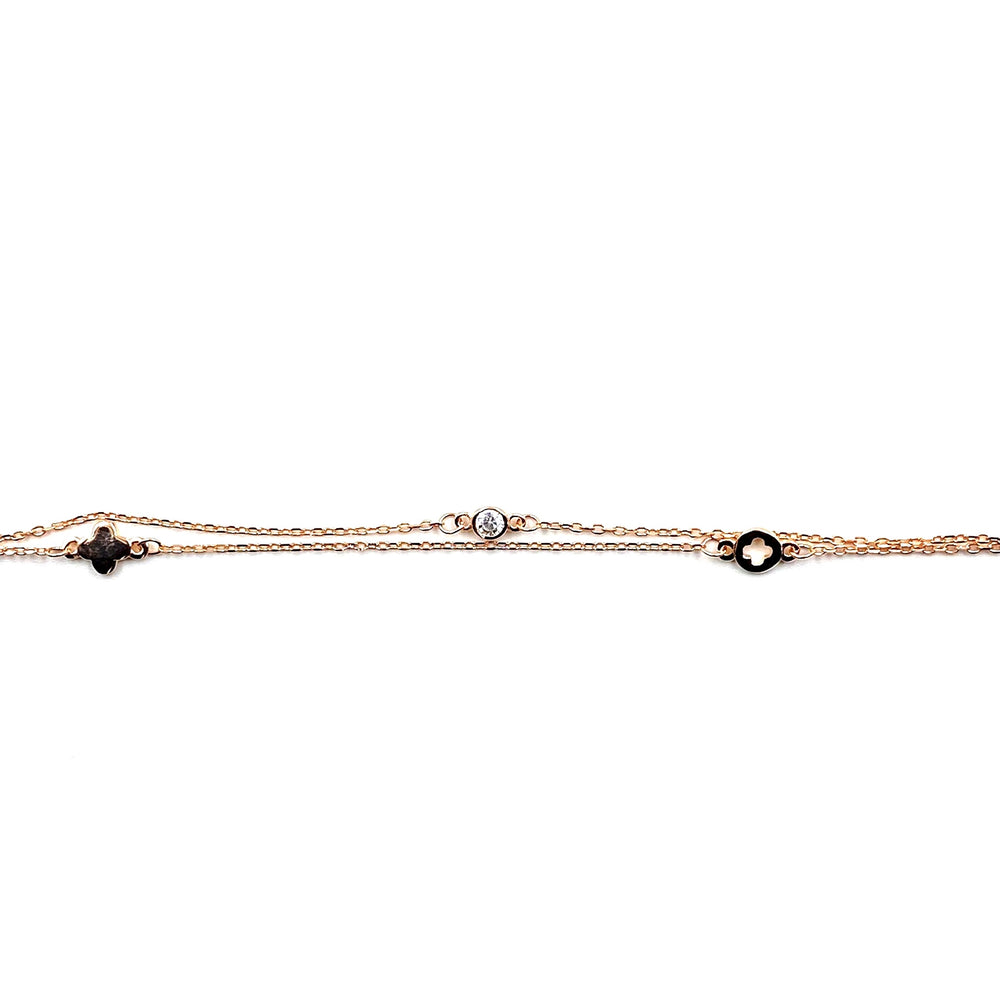 Rose Gold Double Chain Bracelet