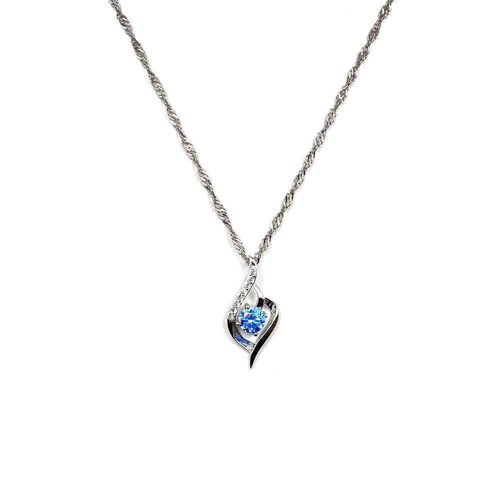 Load image into Gallery viewer, Blue Twist Necklace