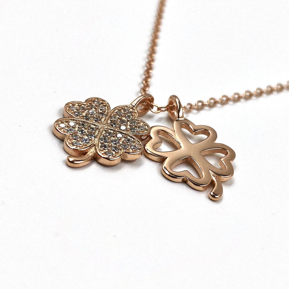 Load image into Gallery viewer, Rose Gold Lucky Clover