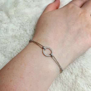 Load image into Gallery viewer, Silver Circle Bracelet