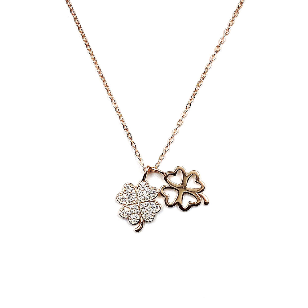 Rose Gold Lucky Clover