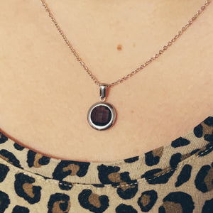 Load image into Gallery viewer, Purple Pendant - Silver