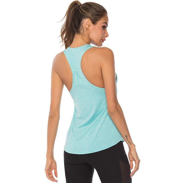 Sleeveless Tank Top - Sky Blue - Gopositivo.co