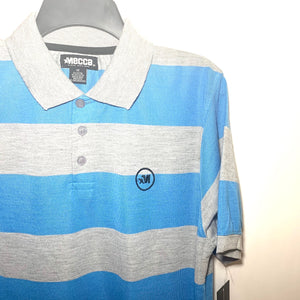 Men's Striped Jersey Polo 14MC MR7