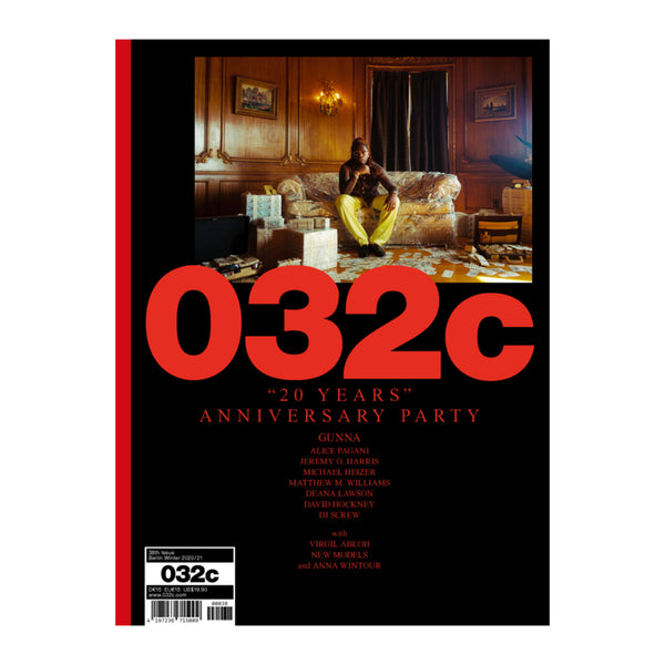 032c issue 38 winter2020 with Gunna on the cover
