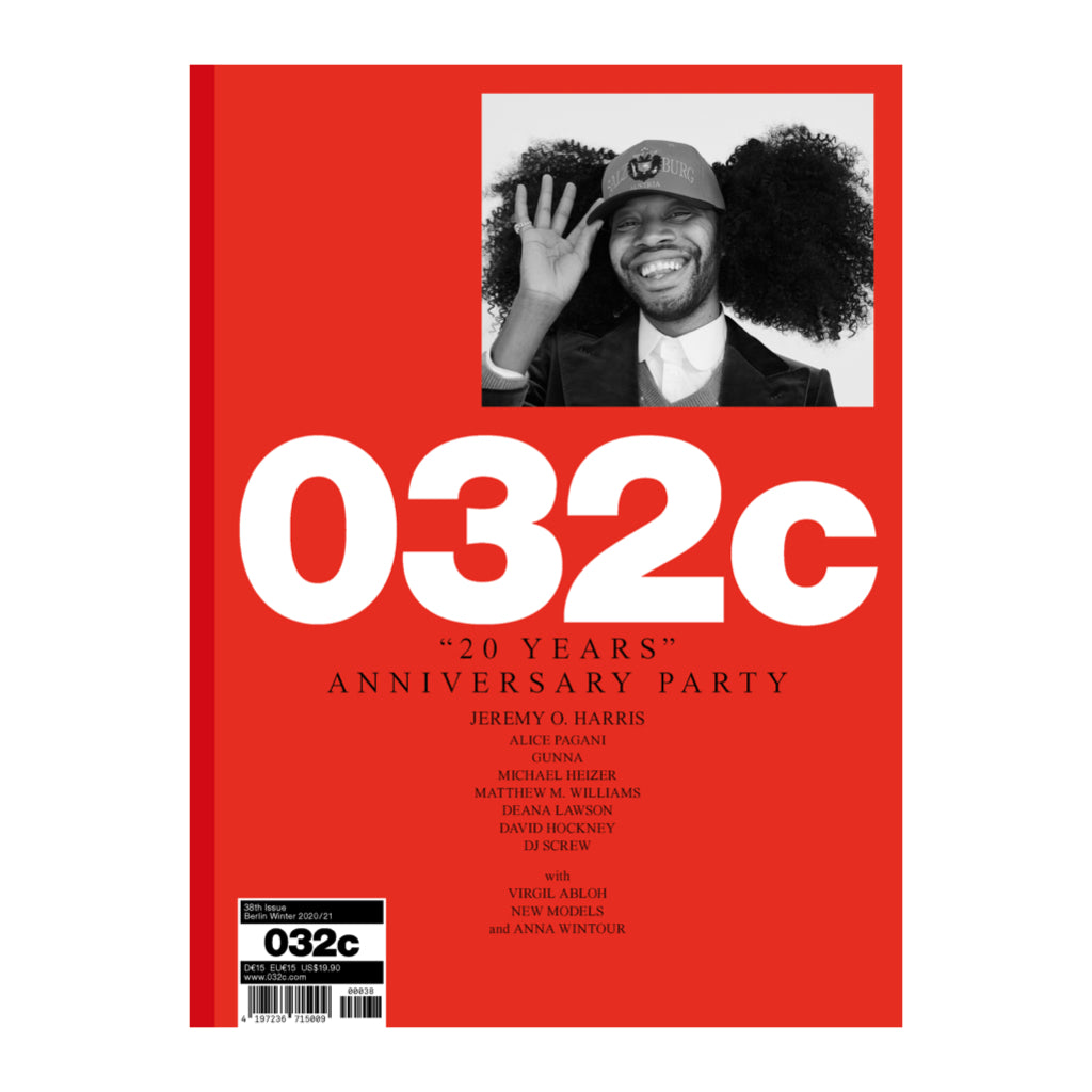 032c issue 38 winter2020 with Jeremy O Harris on the cover