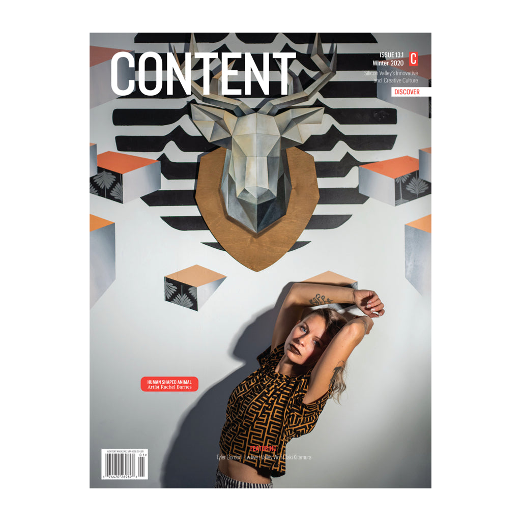 Cover of Content Magazine Issue 13.1 Winter 2020. A magazine devoted to Silicon Valley's Innovative and Creative Culture