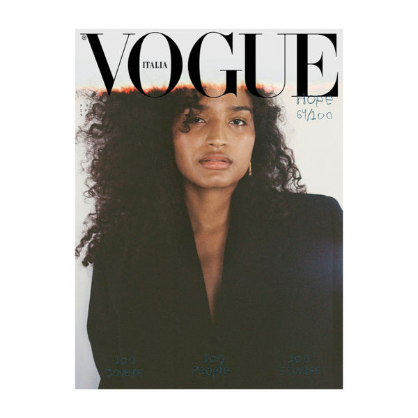 "Vogue Italia's September ""Hope"" issue with Indya Moore on the cover, shot by Mark Borthwick. Issue 840."
