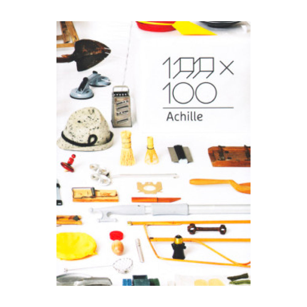 100 x 100 Achille book inspired by artist Achille Castiglioni's collection of everyday objects