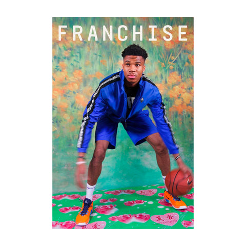 Franchise Issue 6. A magazine about basketball. Giannis Antetokounmpo shot by Ruth Ossai on the cover.