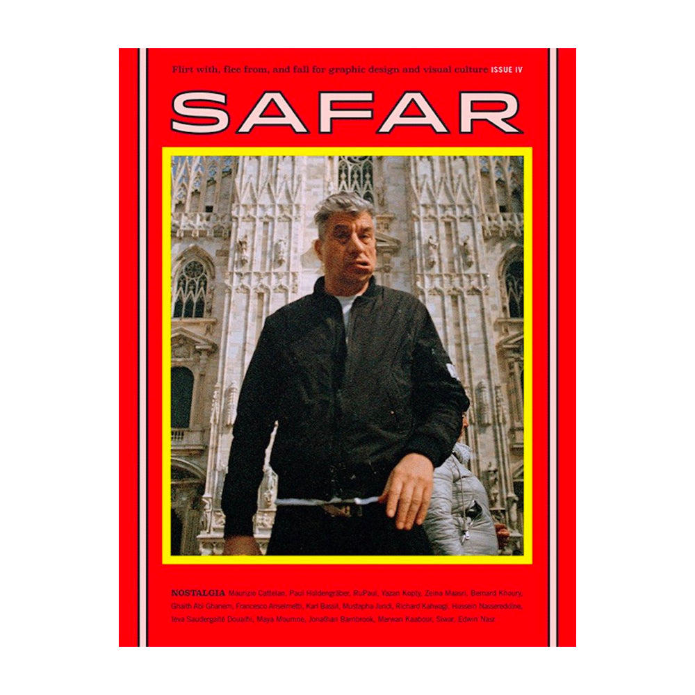 Safar Journal Issue 4: Nostalgia. Maurizio Cattelan on the cover.