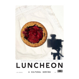 Luncheon Issue 10. On the cover: Self Portrait as a Cherry Pie by Gareth Wrighton, 2020