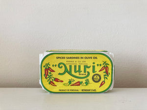 Nuri Spiced Sardines in olive oil. From Portugal