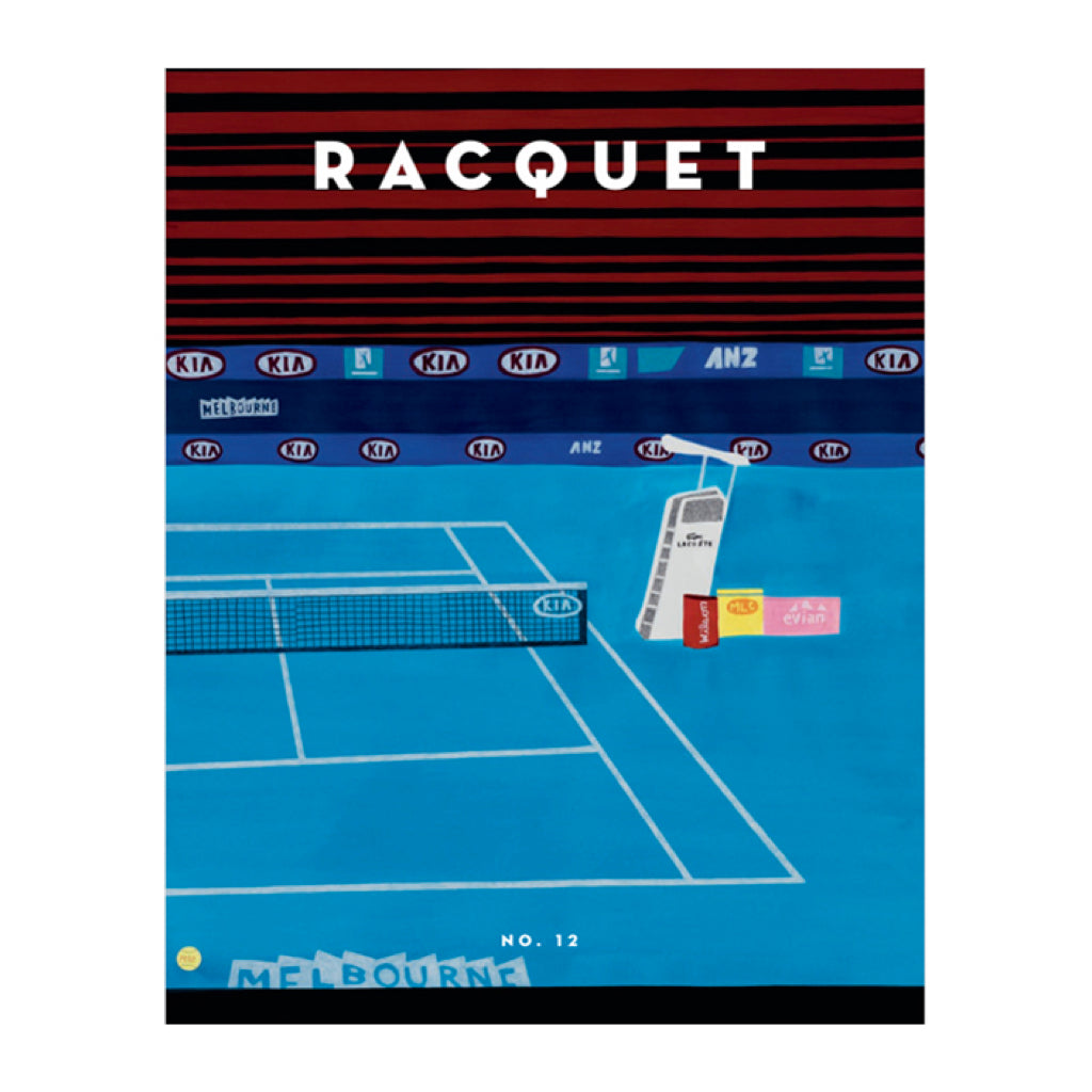 Cover of Racquet Magazine Issue 12. Cover art by Jonas Wood