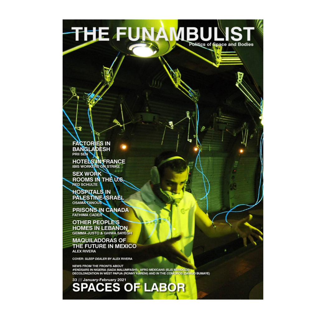 Cover of The Funambulist Magazine Issue 33: Spaces of Labor