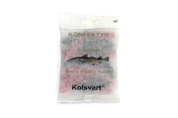 Kolsvart licorice fish