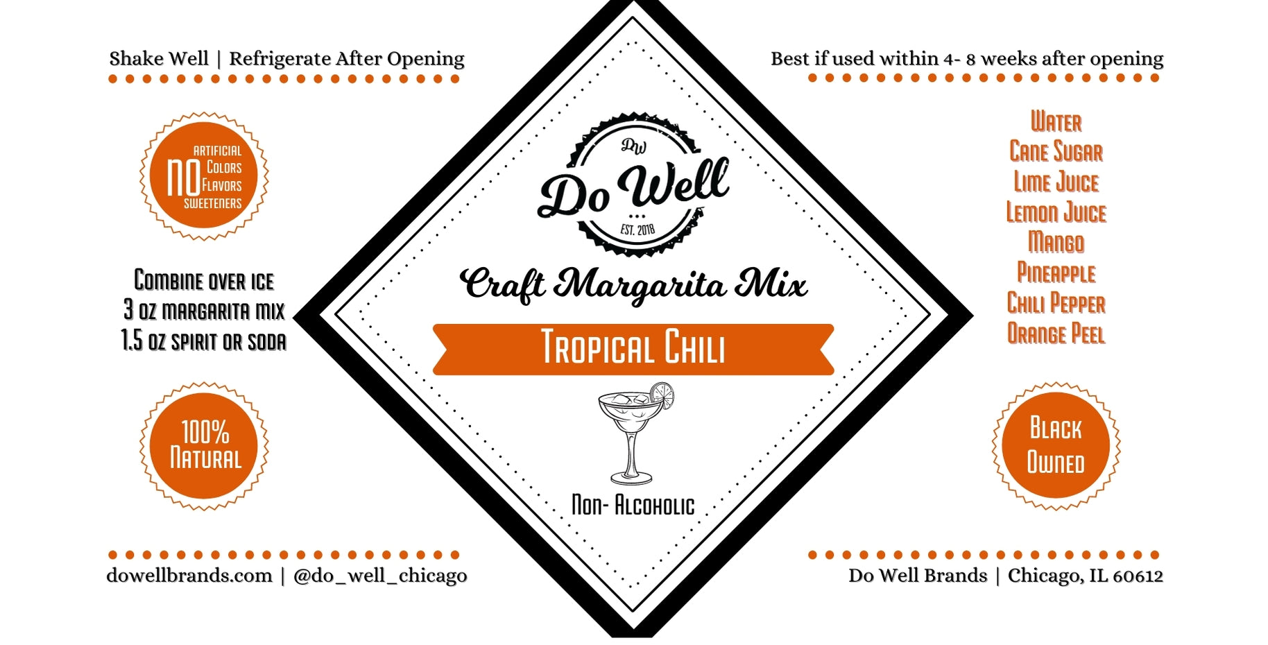 Tropical Chili Craft Margarita Mix- 32 oz