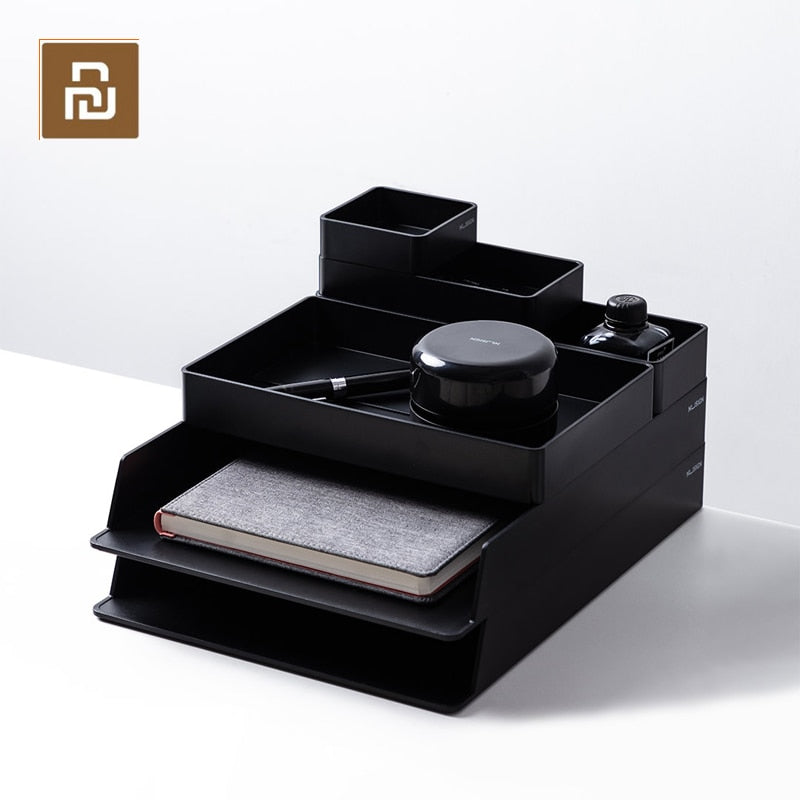 Youpin Office Desk Organizer Makeup Cosmetic Organizers Storage Box Magazine Holder School Office Stationery Organizer Rack