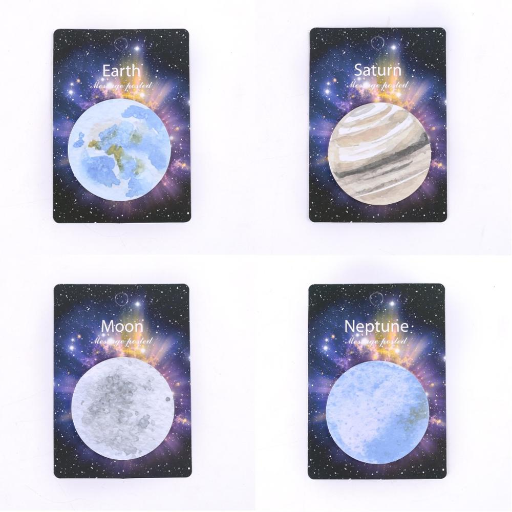 36 Pcs/Lot Earth Moon Saturn Neptune Planet Sticky Note Adhesive Memo Sticker Stationery Office Accessories School Supplies F069