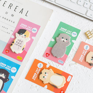 30 Pages Lovely Cat Memo Pads Marker Message Sticky Notes Decor School Office Supply Stationery