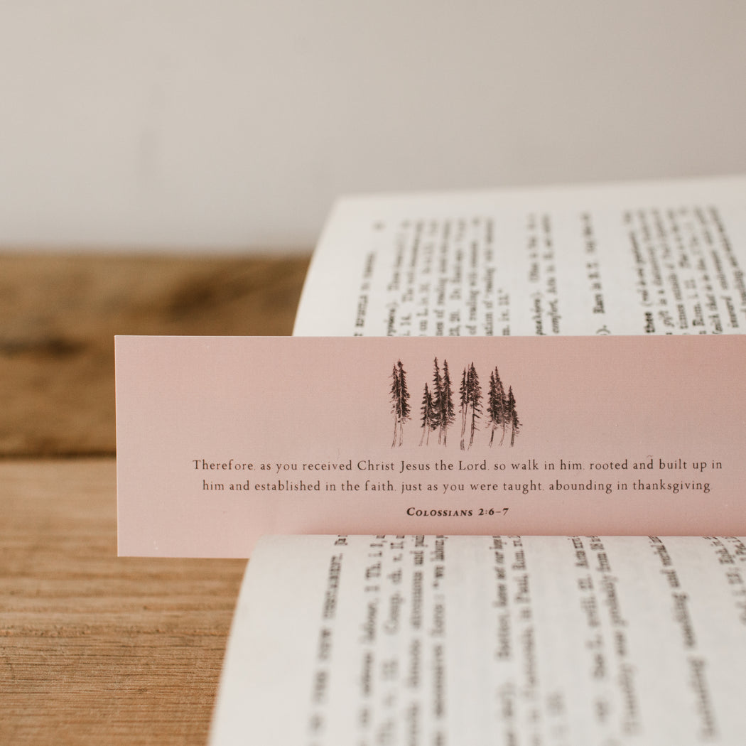 Colossians 2:6-7 Bookmark