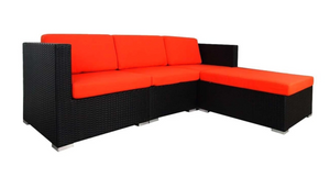 Chill Sofa Set, Red Cushions