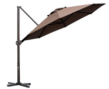 Load image into Gallery viewer, Resort Side-Pole Marble Base Umbrella, Coffee