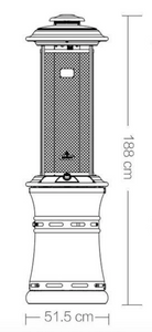 Deluxe Gas Heater Stainless Steel, with Rain Cover