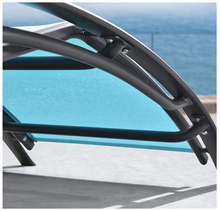 Load image into Gallery viewer, Aluminum Turquoise Sunbed Pair Set, with Table