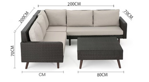 Java Corner Lounge Sofa Set