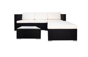 Chill Sofa Set, White Cushions
