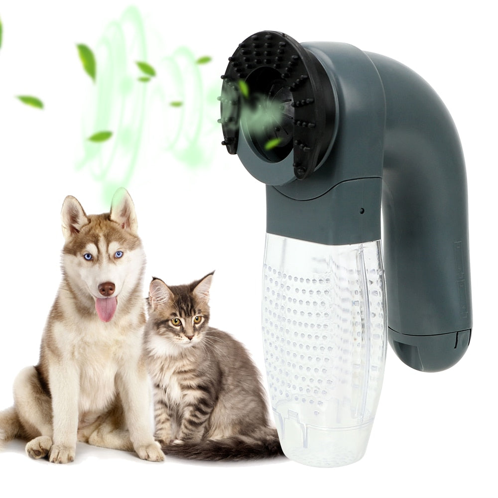 Vacuum Fur Cleaner Pet Grooming Cat Dog Deshedding Clipper Pet Massage Cat Dog Animals Hair Comb Electric Suction Device