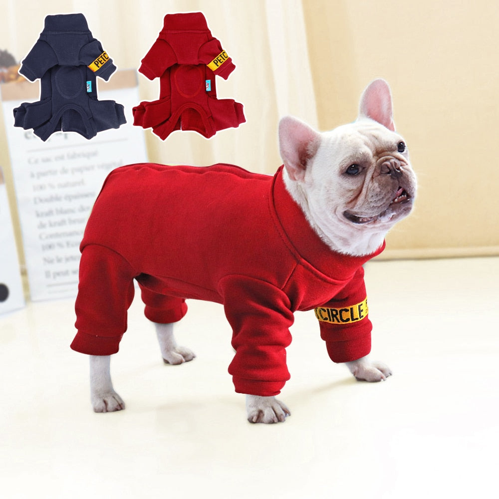 Winter Warm Dog Clothes Pet Dog Jacket Coat Jumpsuit Thicken Pet Clothing For Small Medium Dogs Cats French Bulldog Clothes