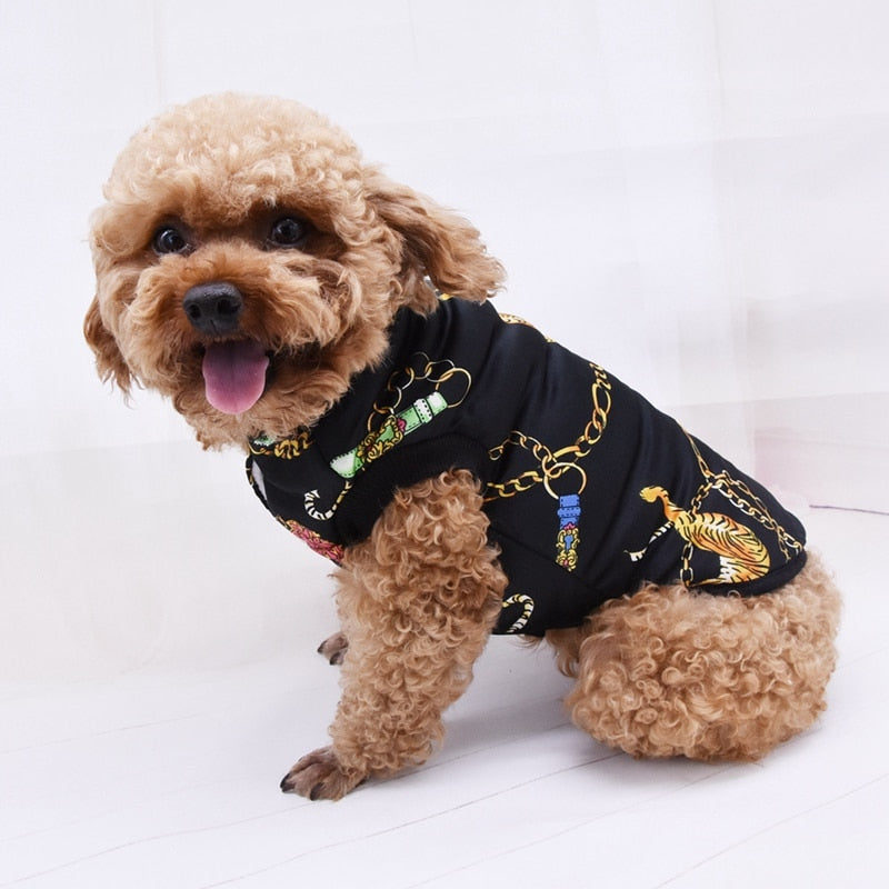 Pet Clothes Dog Clothes Autumn Winter Dog Coat Cotton Dog Clothes Winter Vest Black Blue Warm Jackets  For Small Medium Dogs.