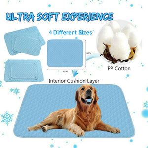 Gel Cooling Mat for Dog Cat Pet Self cooling pillow Summer Hot Weather Bed Large Beds/Mats Dog Supplies