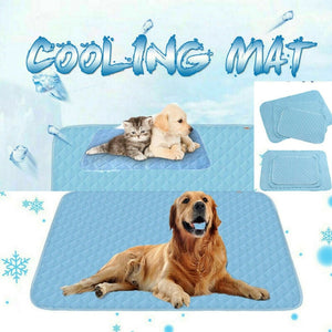 Open image in slideshow, Gel Cooling Mat for Dog Cat Pet Self cooling pillow Summer Hot Weather Bed Large Beds/Mats Dog Supplies