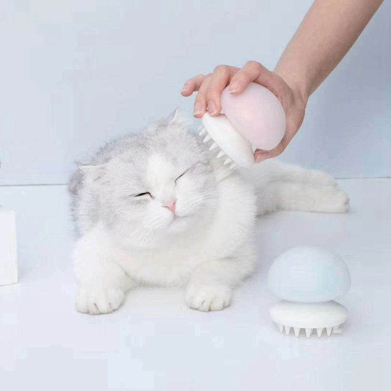 Portable Cat Shedding Massage Bath Comb Cat Comb Silicone Brush Cat Grooming Pet Shampoo Jellyfish Brush Pet Grooming Tools