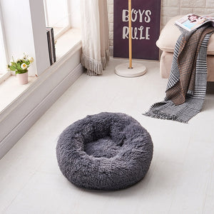 Open image in slideshow, Kennel Super Soft Fluffy Dog Long Plush Dounts Beds Calming Bed Hondenmand Pet Comfortable for Large Dog House