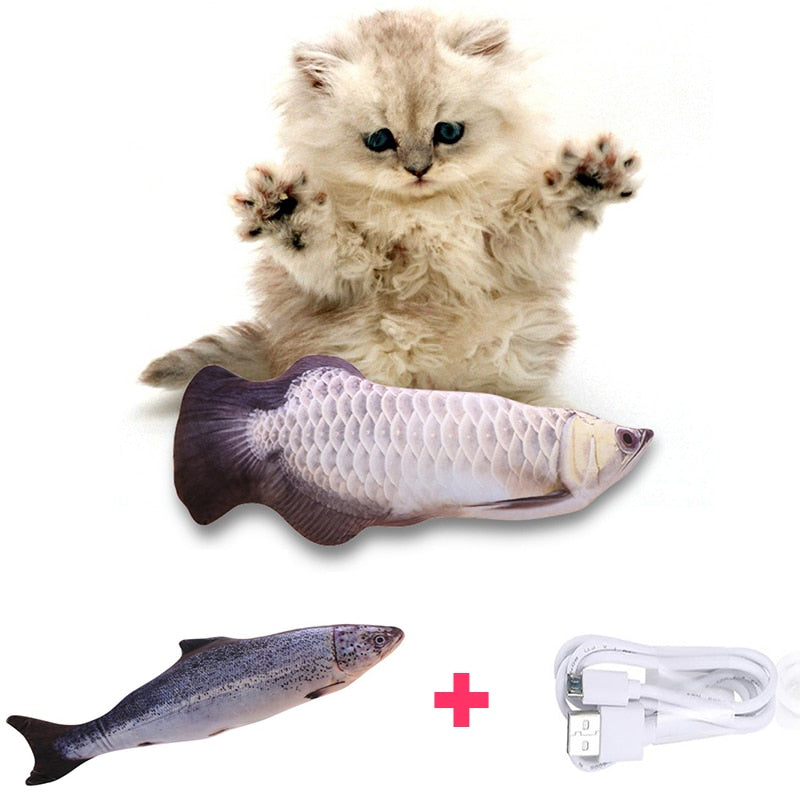 2021 30CM Electronic Pet Cat Toy Electric USB Charging Simulation Fish Toys for Dog Cat Chewing Playing Biting Supplies Dropshiping