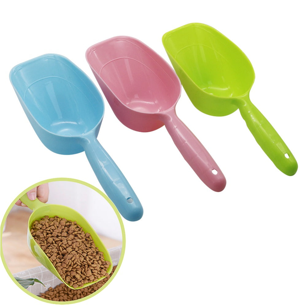 Pet Feeding Shovel Cat Food Scoop Large Capacity Thickening Cat Dog Spoon Plastic Shovel Pet Feeder