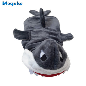 Open image in slideshow, Mogoko 1pc Pet Dog Cosplay Clothes Cute Shark Jaws Fancy Dress Costume Puppy Coat Jacket Outfit Adorable Gray Hoodies S-XL Size