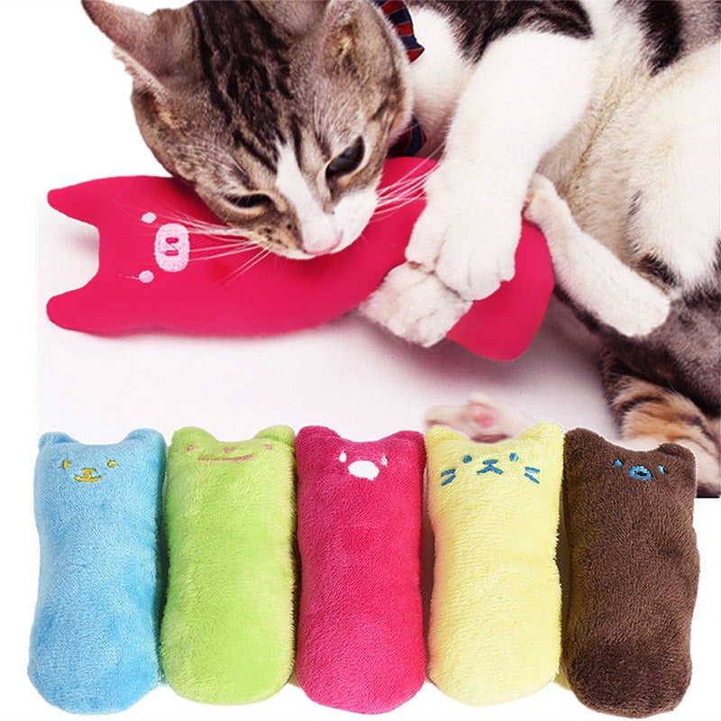 Fashion Mini Teeth Grinding Catnip Toys Funny Interactive Plush Cat Toy Pet Kitten Chewing Vocal Claws Thumb Bite Cat For Cats
