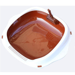Open image in slideshow, Cats Litter Box Anti Splash Pet Toilet Bedpan Cat Dog Tray with Shovel Scoop Kitten Puppy Clean Toilette Home Plastic Sandbox