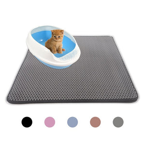 Open image in slideshow, Waterproof Pet Cat Litter Mat EVA Double Layer Cat Litter Trapping Pet Litter Cat Mat Clean Pad Products For Cats Accessories