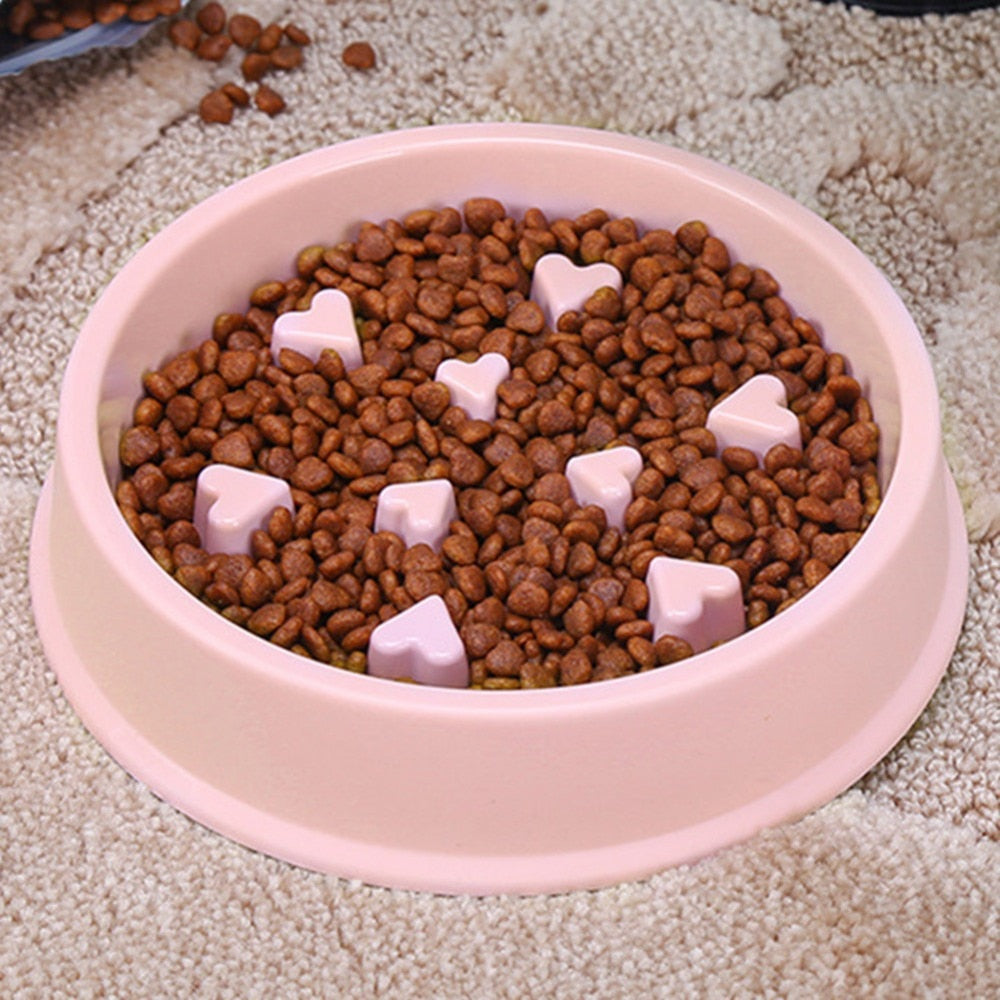 Pet Feeder Portable Feeding Food Bowls Puppy Dog Cats Slow Down Eating Feeder Dish Bowl Prevent Obesity Dogs Bowl Accessories