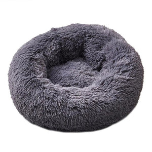 Open image in slideshow, Round Dog Bed Washable long plush Dog Kennel Cat House Super Soft Cotton Mats Sofa For Dog Chihuahua Dog Basket Pet Bed Dropship