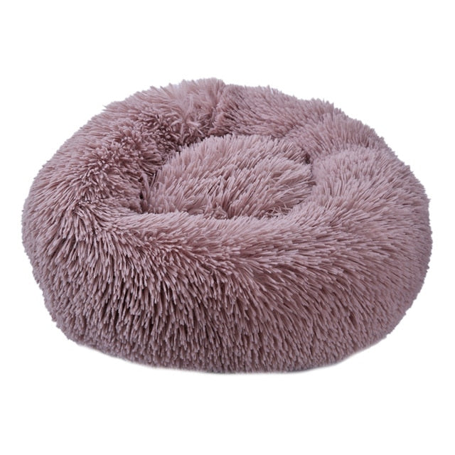 Round Dog Bed Washable long plush Dog Kennel Cat House Super Soft Cotton Mats Sofa For Dog Chihuahua Dog Basket Pet Bed Dropship