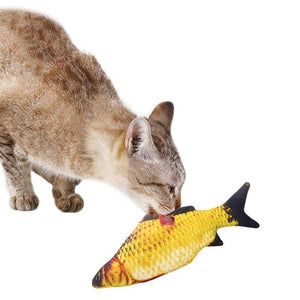 Open image in slideshow, 2021 Pet Soft Plush 3D Fish Shape Cat Toy Interactive Gifts Fish Catnip Toys Stuffed Pillow Doll Simulation Fish Playing Toy For Pet